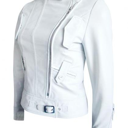 Leather Skin Women White Angel Bran..