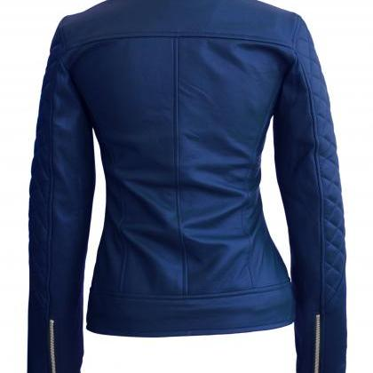 Leather Skin Women Navy Blue Should..