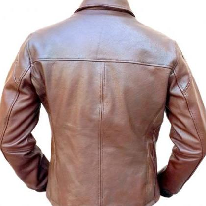 Leather Skin Men Brown Bold Leather..