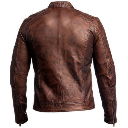 Handmade Leather Skin Men Distresse..