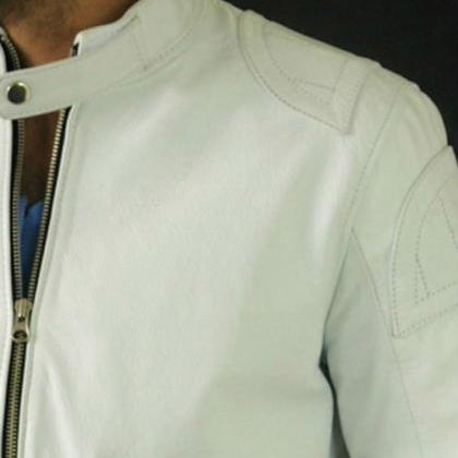 Handmade Men White Classic Genuine ..