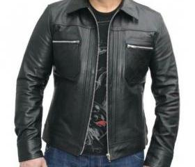 Leather Skin Men Bla..